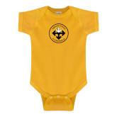 Gold Infant Onesie-Seal