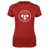 Ladies Syntrel Performance Cardinal Tee-Seal