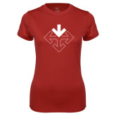 Ladies Syntrel Performance Cardinal Tee-Sherman Arrows