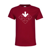 Youth Cardinal T Shirt-Sherman Arrows