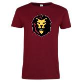 Ladies Cardinal T Shirt-Larry Lion