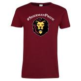 Ladies Cardinal T Shirt-Hashtag Sherman Pride
