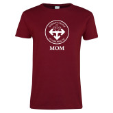 Ladies Cardinal T Shirt-Mom with Seal