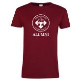 Ladies Cardinal T Shirt-Alumni with Seal