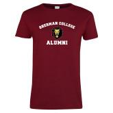Ladies Cardinal T Shirt-Alumni with Lion