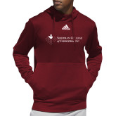 Adidas Cardinal Team Issue Hoodie-College Logo