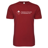 Next Level SoftStyle Cardinal T Shirt-College Logo