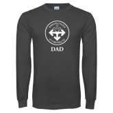 Charcoal Long Sleeve T Shirt-Dad with Seal