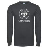 Charcoal Long Sleeve T Shirt-Grandpa with Seal