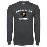Charcoal Long Sleeve T Shirt-Alumni with Lion