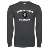 Charcoal Long Sleeve T Shirt-Grandpa with Lion