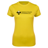 Ladies Syntrel Performance Gold Tee-College Logo