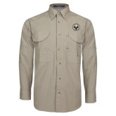 Khaki Long Sleeve Performance Fishing Shirt-Seal