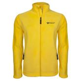 Fleece Full Zip Gold Jacket-College Logo