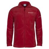 Columbia Full Zip Cardinal Fleece Jacket-College Logo