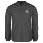 V Neck Charcoal Raglan Windshirt-Seal