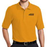 Gold Easycare Pique Polo-Sherman Pride