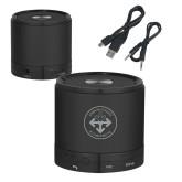 Wireless HD Bluetooth Black Round Speaker-Seal Engraved