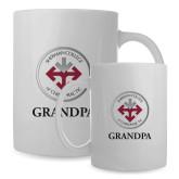 Full Color White Mug 15oz-Grandpa with Seal