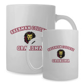 Full Color White Mug 15oz-Grandma with Lion