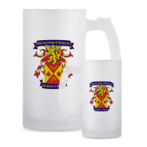 Full Color Decorative Frosted Glass Mug 16oz-Presidents Crest