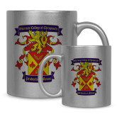 Full Color Silver Metallic Mug 11oz-Presidents Crest