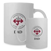 Dad Full Color White Mug 15oz-Dad with Seal
