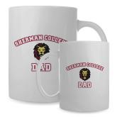 Dad Full Color White Mug 15oz-Dad with Lion