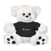 Plush Big Paw 8 1/2 inch White Bear w/Black Shirt-College Logo