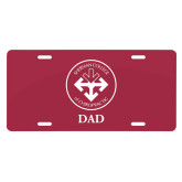 License Plate-Dad with Seal