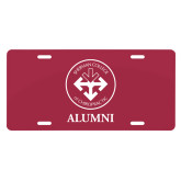 License Plate-Alumni with Seal
