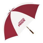 62 Inch Cardinal/White Umbrella-Sherman Pride