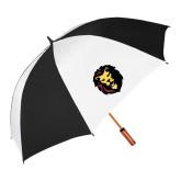 64 Inch Black/White Vented Umbrella-Larry Lion