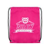 Pink Drawstring Backpack-Shaw University Primary