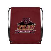 Maroon Drawstring Backpack-Shaw University Primary