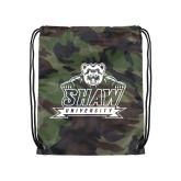 Camo Drawstring Backpack-Shaw University Primary