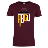 Ladies Maroon T Shirt-HBCU