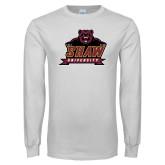 White Long Sleeve T Shirt-Shaw University Primary