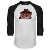 White/Black Raglan Baseball T Shirt-Shaw University Primary