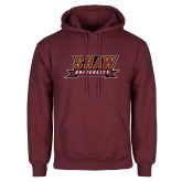 Maroon Fleece Hoodie-Shaw University Stacked Logo