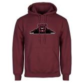 Maroon Fleece Hoodie-Bear Logo