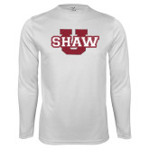 Syntrel Performance White Longsleeve Shirt-Shaw U