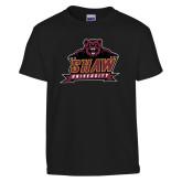Youth Black T Shirt-Shaw University Primary