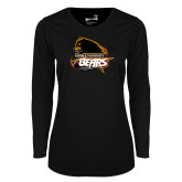 Ladies Syntrel Performance Black Longsleeve Shirt-Primary Mark