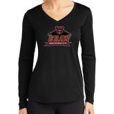 Ladies Syntrel Performance Black Longsleeve Shirt-Shaw University Primary