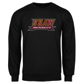 Black Fleece Crew-Shaw University Stacked Logo