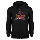 Black Fleece Full Zip Hoodie-Shaw University Primary
