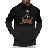 Adidas Black Team Issue Hoodie-Shaw University Primary