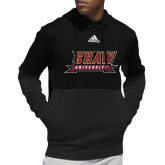Adidas Black Team Issue Hoodie-Shaw University Stacked Logo