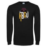 Black Long Sleeve T Shirt-HBCU